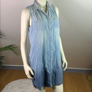 American Eagle Chambray Ombre Shirtdress M